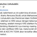 KRS SEMESTER GANJIL 2020/2021 FUSHPI SUDAH DIBUKA