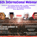 6th INTERNATIONAL WEBINAR FUSHPI UIN RF WITH FSK UPSI MALAYSIA